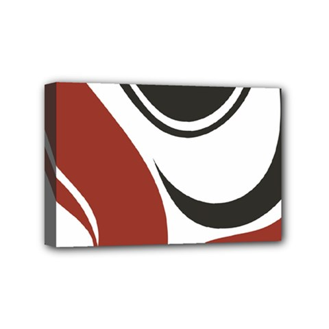 Red Black Mini Canvas 6  x 4