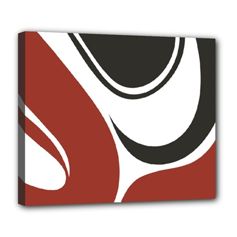 Red Black Deluxe Canvas 24  x 20