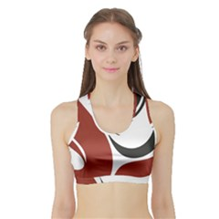 Red Black Sports Bra with Border