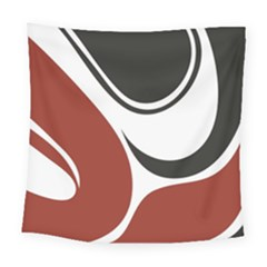 Red Black Square Tapestry (large)