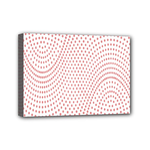 Red Circle Mini Canvas 7  x 5
