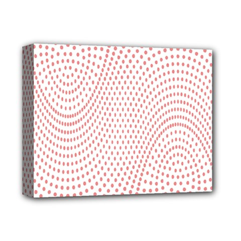 Red Circle Deluxe Canvas 14  x 11