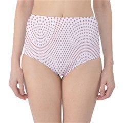 Red Circle High-Waist Bikini Bottoms