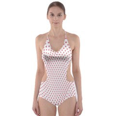 Red Circle Cut-Out One Piece Swimsuit
