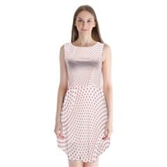 Red Circle Sleeveless Chiffon Dress