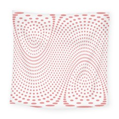 Red Circle Square Tapestry (large)
