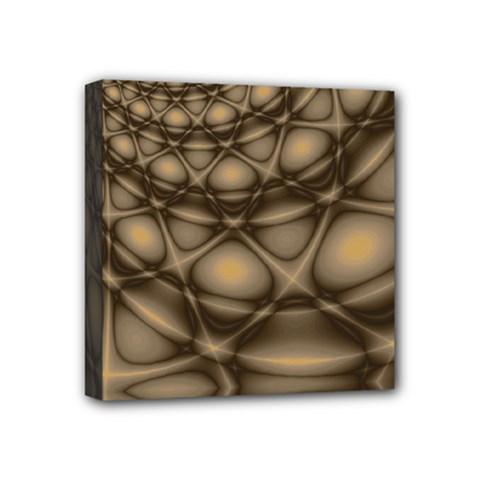 Rocks Metal Fractal Pattern Mini Canvas 4  x 4