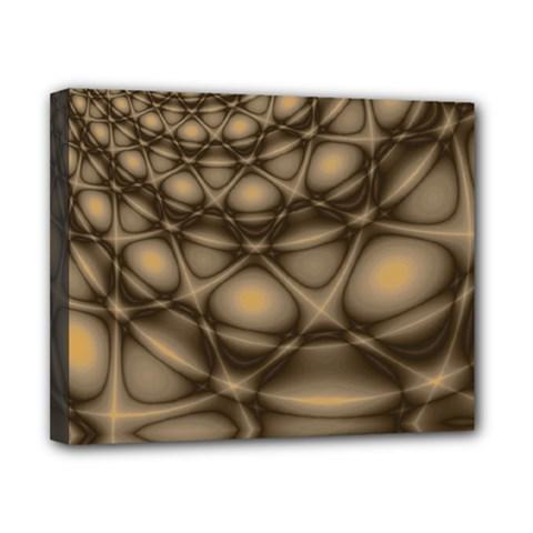 Rocks Metal Fractal Pattern Canvas 10  x 8