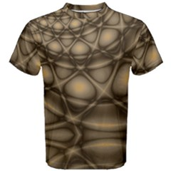 Rocks Metal Fractal Pattern Men s Cotton Tee