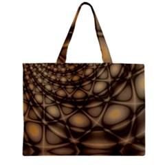 Rocks Metal Fractal Pattern Zipper Mini Tote Bag