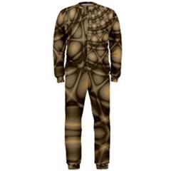 Rocks Metal Fractal Pattern OnePiece Jumpsuit (Men)