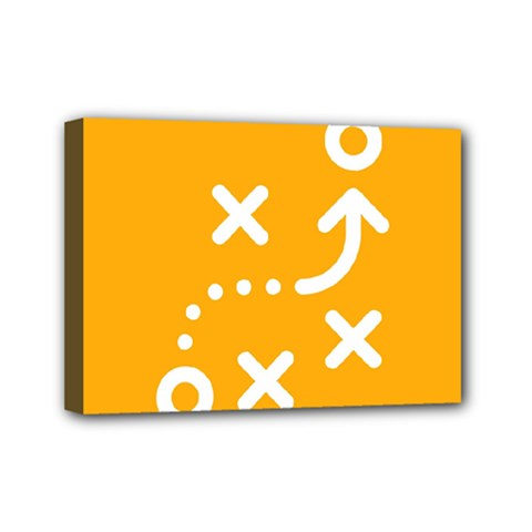 Sign Yellow Strategic Simplicity Round Times Mini Canvas 7  x 5