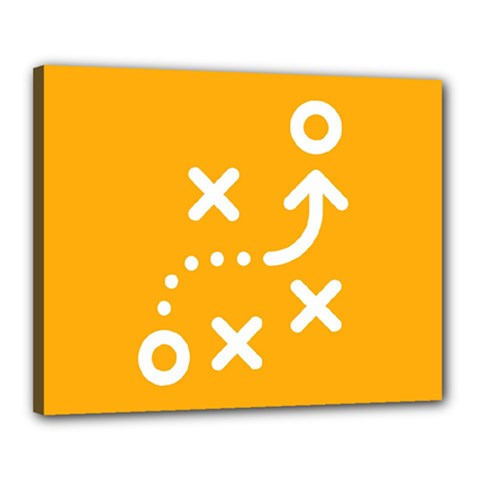 Sign Yellow Strategic Simplicity Round Times Canvas 20  x 16