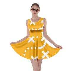 Sign Yellow Strategic Simplicity Round Times Skater Dress