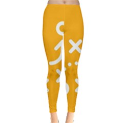 Sign Yellow Strategic Simplicity Round Times Leggings