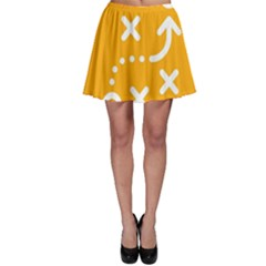Sign Yellow Strategic Simplicity Round Times Skater Skirt