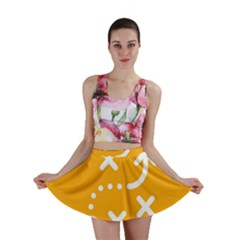 Sign Yellow Strategic Simplicity Round Times Mini Skirt