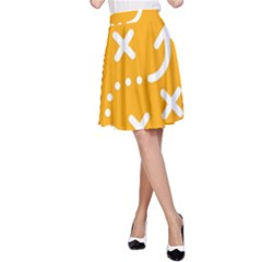 Sign Yellow Strategic Simplicity Round Times A-Line Skirt