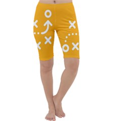 Sign Yellow Strategic Simplicity Round Times Cropped Leggings