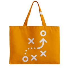 Sign Yellow Strategic Simplicity Round Times Zipper Mini Tote Bag