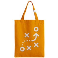 Sign Yellow Strategic Simplicity Round Times Zipper Classic Tote Bag