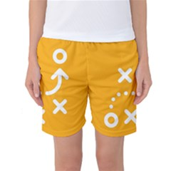 Sign Yellow Strategic Simplicity Round Times Women s Basketball Shorts