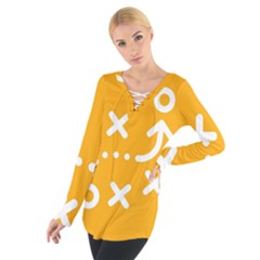 Sign Yellow Strategic Simplicity Round Times Women s Tie Up Tee