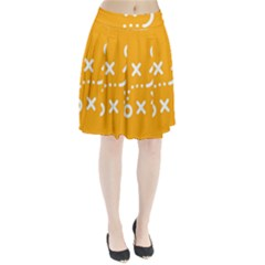 Sign Yellow Strategic Simplicity Round Times Pleated Skirt
