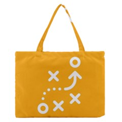 Sign Yellow Strategic Simplicity Round Times Medium Zipper Tote Bag