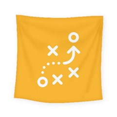 Sign Yellow Strategic Simplicity Round Times Square Tapestry (small)