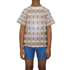 Pattern Retro Background Texture Kids  Short Sleeve Swimwear