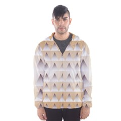 Pattern Retro Background Texture Hooded Wind Breaker (Men)