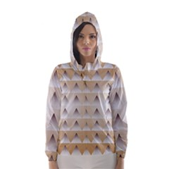 Pattern Retro Background Texture Hooded Wind Breaker (Women)