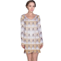 Pattern Retro Background Texture Long Sleeve Nightdress