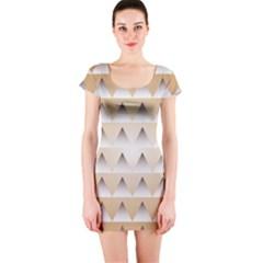 Pattern Retro Background Texture Short Sleeve Bodycon Dress