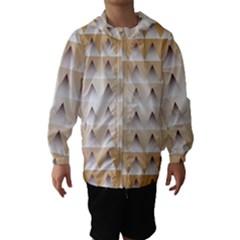 Pattern Retro Background Texture Hooded Wind Breaker (Kids)