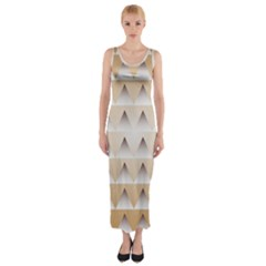 Pattern Retro Background Texture Fitted Maxi Dress