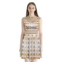 Pattern Retro Background Texture Split Back Mini Dress