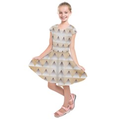 Pattern Retro Background Texture Kids  Short Sleeve Dress