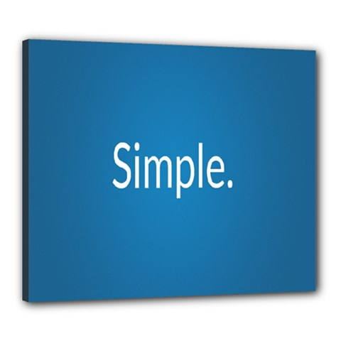 Simple Feature Blue Canvas 24  x 20