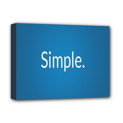 Simple Feature Blue Deluxe Canvas 16  x 12