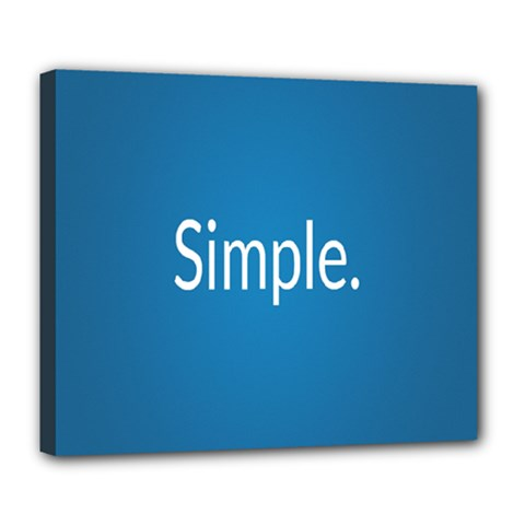 Simple Feature Blue Deluxe Canvas 24  x 20