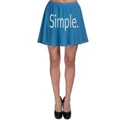 Simple Feature Blue Skater Skirt