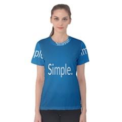 Simple Feature Blue Women s Cotton Tee