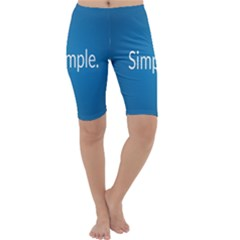 Simple Feature Blue Cropped Leggings
