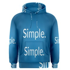 Simple Feature Blue Men s Pullover Hoodie
