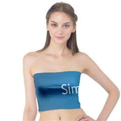 Simple Feature Blue Tube Top