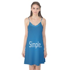 Simple Feature Blue Camis Nightgown