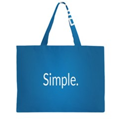 Simple Feature Blue Large Tote Bag