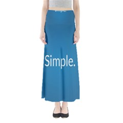 Simple Feature Blue Maxi Skirts